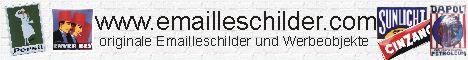 alte Emaille Schilder und Reklameobjekte